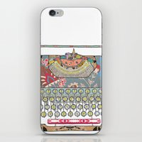 letter iPhone & iPod Skins featuring I DON'T KNOW WHAT TO WRITE YOU by Bianca Green