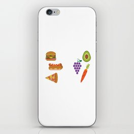 Junk Food vs Healthy Food iPhone Skin