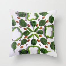 Green Salad Throw Pillow