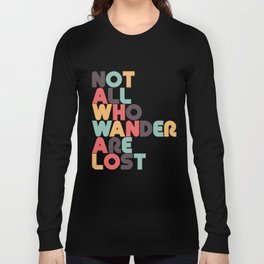Retro Not All Who Wander Are Lost Typography Long Sleeve T-shirt