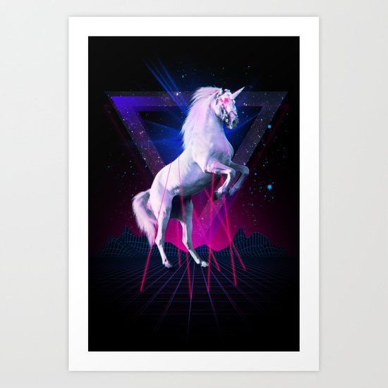 The last laser unicorn Art Print