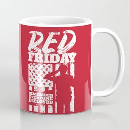 Red Friday American Military Soldier Coffee Mug