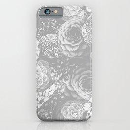 Moody Florals in Grey iPhone Case