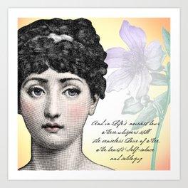Poetry Girls: Fornasetti Girl Art Print