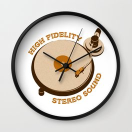 High Fidelity - Stereo Sound Wall Clock