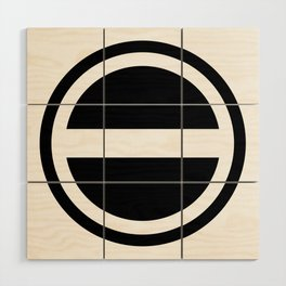 Curtis Holt Logo (Black) Wood Wall Art