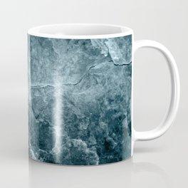 Enigmatic Deep Blue Ocean Marble #1 #decor #art #society6 Coffee Mug