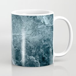 Enigmatic Deep Blue Ocean Marble #1 #decor #art #society6 Coffee Mug