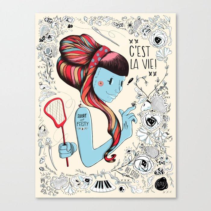 Short & Feisty Canvas Print