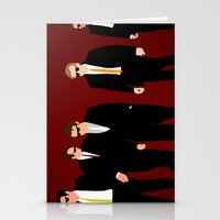 reservoir dogs Stationery Cards featuring Reservoir Dogs by Tom Storrer