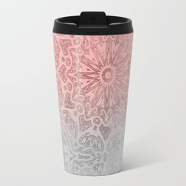 Oriental ornament pattern Rose Quartz Travel Mug