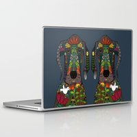 great dane Laptop & iPad Skins featuring Great Dane love midnight by Sharon Turner