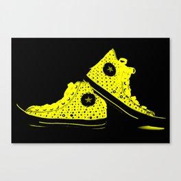 Xray Tennies Yellow Canvas Print