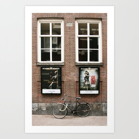Life is like a bicycle Art Print