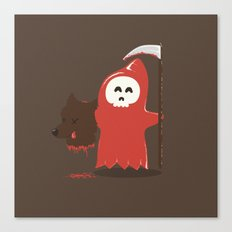 Little Death Riding Hood Canvas Print