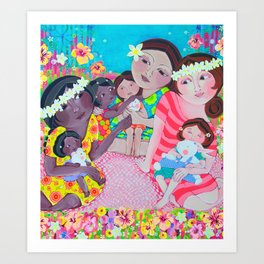 Hawaiian Sisterhood Art Print
