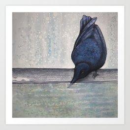 Wintertime Crow Art Print