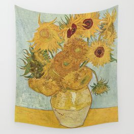 Still Life: Vase with Twelve Sunflowers Wall Tapestry