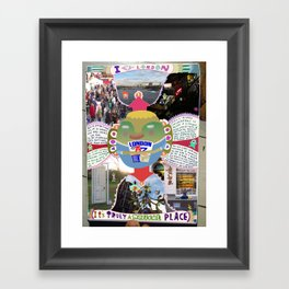 I ♡ London Framed Art Print