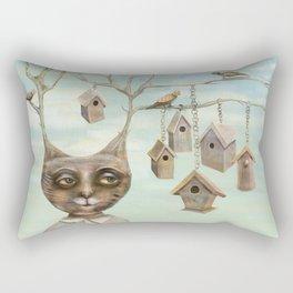 Bird Houses Rectangular Pillow