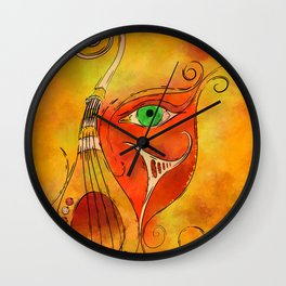 Masquerevue - beauty behind the instrumental mask Wall Clock