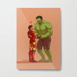 Avengers - Iron Man and Hulk 2 Metal Print