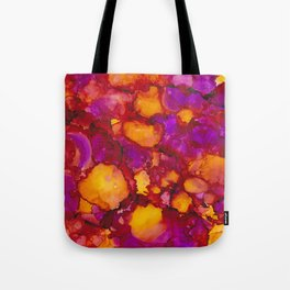 Happy spring - Alcohol ink drawing Tote Bag