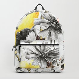 Poppies And Chicory Wildflower Bouquet Backpack