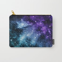 Purple Teal Galaxy Nebula Dream #1 #decor #art #society6 Carry-All Pouch