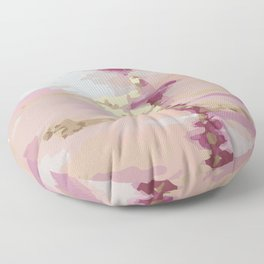 Pink and Gold Abstract Art Floor Pillow