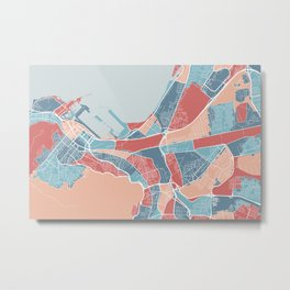 Cape Town map Metal Print