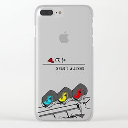 Shrimp Lover Clear iPhone Case