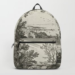 Landscape With Judah And Tamar Willem van Nieulandt II Backpack
