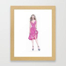 Pink Dress! Framed Art Print