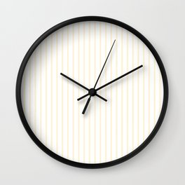 Gardenia Cream Pinstripe on White Wall Clock
