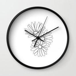 Daisies botanical illustration - Jo Wall Clock