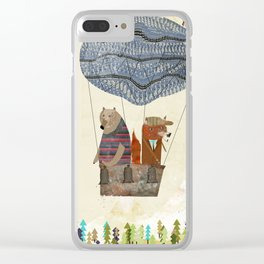 fox and bears wondrous adventure Clear iPhone Case