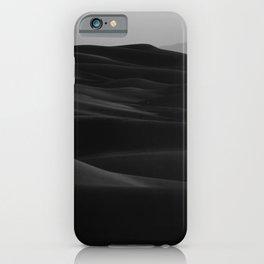 Dark Modern Minimalist Landscape Desert Dunes iPhone Case