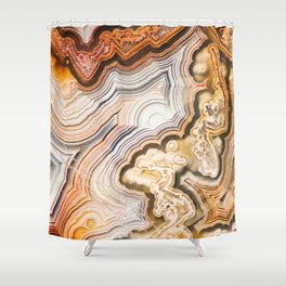 Contemporary Fine Art - Agate Abstract Shower Curtain