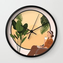 A Relaxing Afternoon Wall Clock
