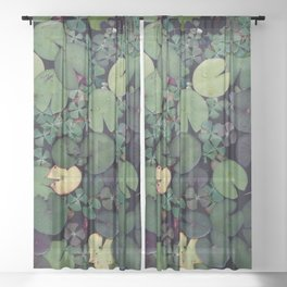 Lily Pads Sheer Curtain