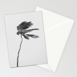 Grey Palm Tree Stationery Cards