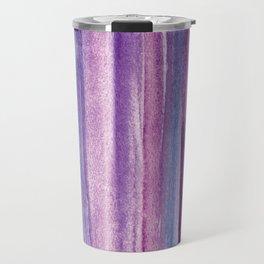 Purple Watercolor Stripes - Abstract Travel Mug