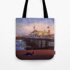 Brighton Pier Twilight Tote Bag