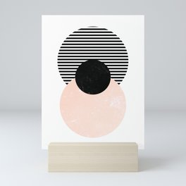 Mid Century Circle Art Mini Art Print