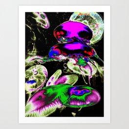 Space Jellyfish  Art Print