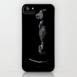 Black on Black Lab iPhone Case