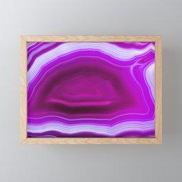 Pink agate Geode Framed Mini Art Print