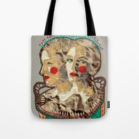 girls Tote Bags featuring Girls by R. Gorkem Gul