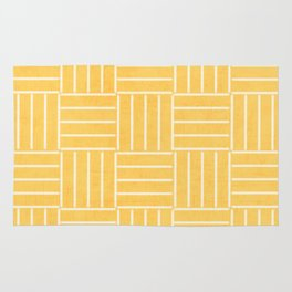 square lines - yellow Rug